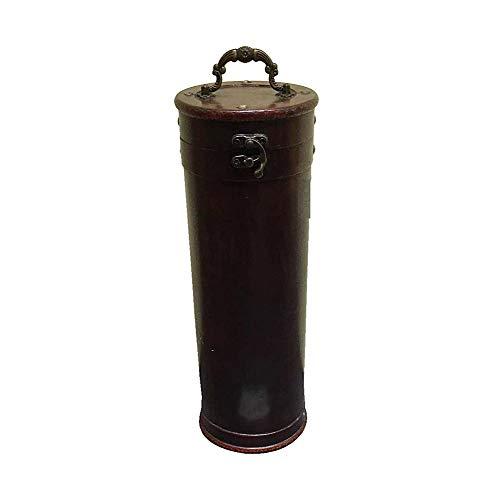 HTI-Line Weinkoffer Natalie Holz Flaschenkorb Weinkiste Wein Weinbox Antik Stil Geschenk-Kiste Wein-Präsent-Kiste Geschenkkiste
