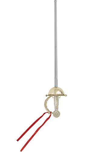 Funidelia | Espada de Mosquetero para Hombre y Mujer ▶ Mosquetero, Espadachín - Color: Gris / Plateado, Accesorio para Disfraz - Divertidos Disfraces y complementos