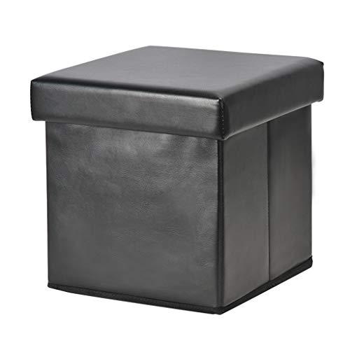Ottoman Wddwarmhome Boîte de Rangement Pliable de Tabouret de Rangement de ménage de Tabouret de PVC - Poids Maximum 100kg