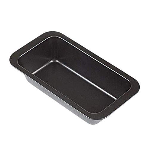MIGUOR Cake Mold Stainless Steel Flat Bottom Rectangular Baking Pan Toast Baking Pan for Making Delicious Layer Cakes Black 25×13×6.4Cm