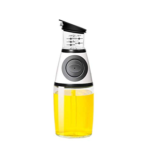 Feliciay Botella Dispensadora Oliva Botellas Dispensadoras Vertedor Cocina Vinagrera Con Dispensador Para De Vinagre (Plateado, 12,3 Oz / 350 Ml)