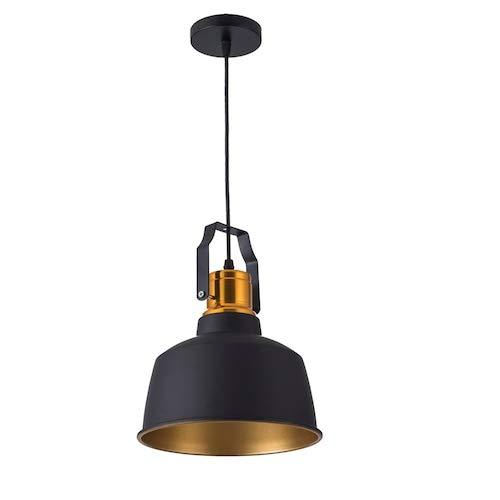 HaiMa Mini Led Luces Colgantes E27 12W Lámparas De Suspensión - Negro