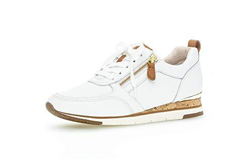 Gabor Zapatillas bajas para mujer, con plantilla suelta, mejor ajuste., color Blanco, talla 40 EU
