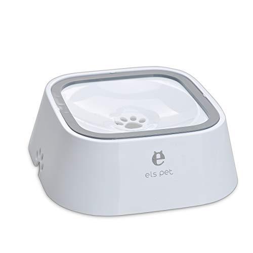 Songway Wassernapf für Hunde und Katzen, spritzwassergeschützt, 1,5 l, langsamer Wassernapf, kein Verschütten, Anti-Erstickungssystem, für Hunde und Katzen (White)