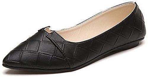 Wuyulunbi@ Chaussures femmes de confort d'été Pu ApparteHommests chaussures gris gris gris noir vert robe de 633