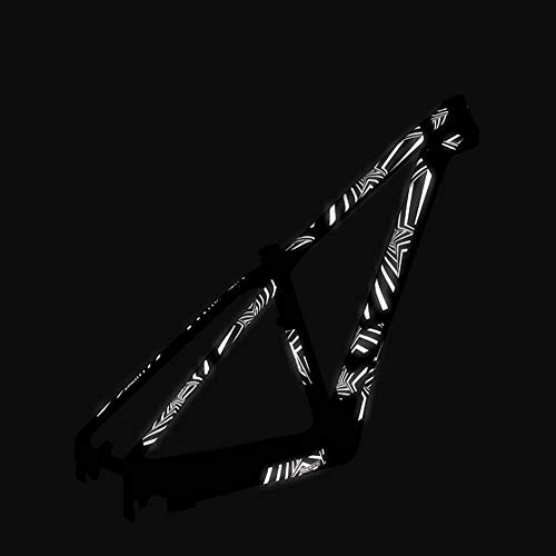 Fahrrad/Roller reflektierende Aufkleber Rahmenfolie, kreative DIY Rahmenschutzaufkleber, Balance Fahrrad leuchtende Aufkleber,Five Stars