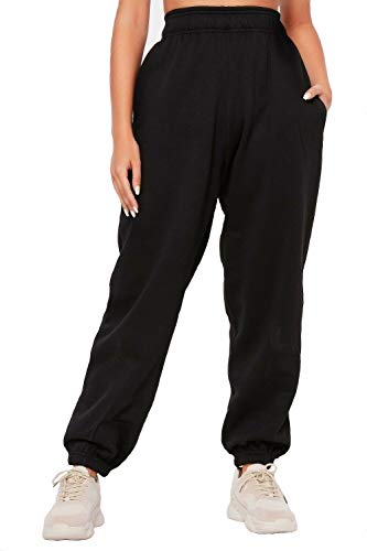 Dames Fleece Casual Oversized Jogging Joggers Dames met cuffed trainingspak