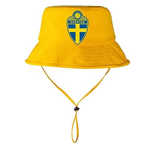 JINGH Sombrero Del Partidario Del Partidario Del Fútbol De Los Hombres Suecos, Sombrero De Sol Al Aire Libre/Deportes, Memorabilia De Ventilador-amarillo (Color: Amarillo)