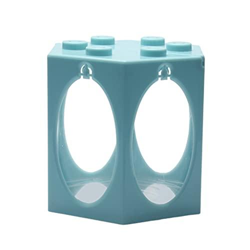 Baoblaze Pecera pequeña Betta, Acuario con Arco con luz LED y Bomba de Aire, pecera pequeña para Medusa de Tortuga y Reptil, Caja de Decoración de Mesa - Luz Redonda Azul