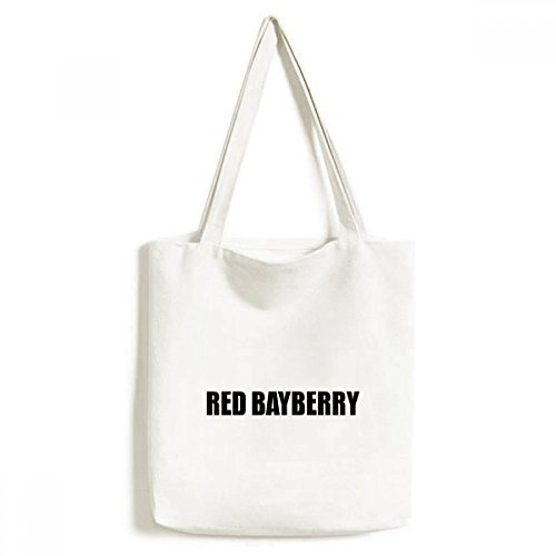 DIYthinker Bayberry Alimentos Fruta roja Medio Ambiente Bolsa de Mano Bolso de Las Compras Craft Lavable