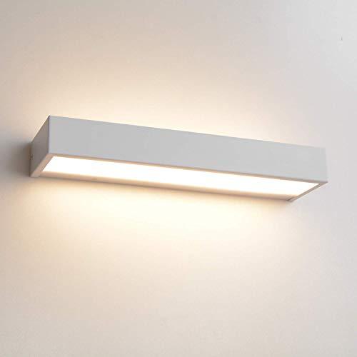 MantoLite LED Lámparas de Pared,Moderno Dormitorio Iluminación de Interior Lámparas Apliques para Baño Estantería Cuarto Vanidad Imagen,40CM 12W 3000K IP44 Blanco Sala Pasillos Escaleras Luz