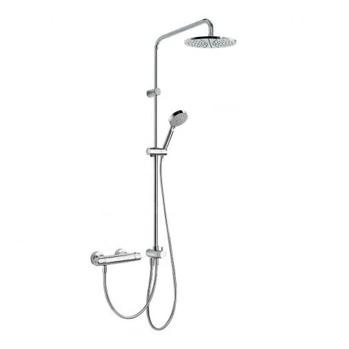 Tres 190385 - Conjunto ducha termostática (Ducha fija 225 mm ...