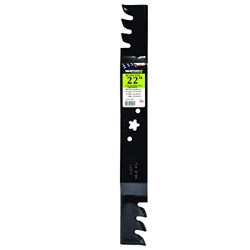 MaxPower 331749XB Commercial Mulching Blade for 22 in. Cut Craftsman, Husqvarna and Poulan Mowers Replaces OEM #'s 580244001 and 580244002