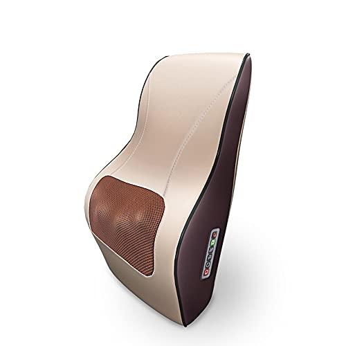 SHDream Cuello y espalda con calefacción con calefacción, tejido profundo, almohadilla de amasado 3D, acupresión eléctrica, cuello trasero y masaje de hombros, almohada, almohada, dolor muscular, adec