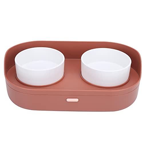 Liyong Rutschfester Doppelnapf für Katzen und Hunde, Abnehmbarer Doppelnapf für Katzen und Hunde, 7 Zentimeter Pflegen Großes Fassungsvermögen für Trink- und Futternapf für Haustiere(verrotten)