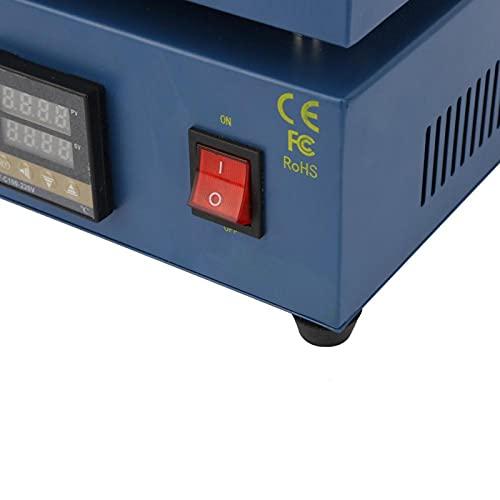 Placa caliente de soldador, estación de precalentamiento de pantalla digital LCD de laboratorio 200 × 200 mm para trabajos de soldadura(European standard 220V, pink)