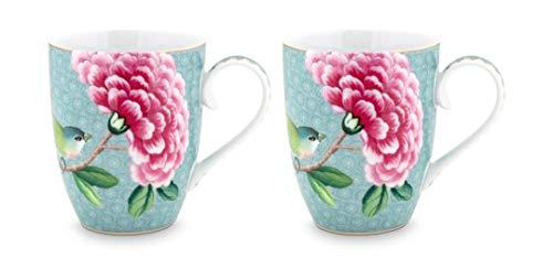 Pip Studio 2er Tassen-Set Blushing Birds   Blue - 350 ml