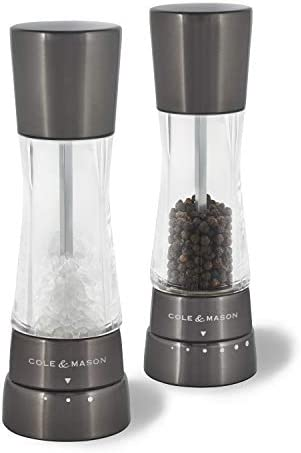 Cole and Mason H59428G Gourmet Precision Derwent Salt and Pepper Mill Gift Set Manual grinders product image