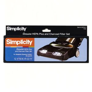 Simplicity 9 1/2 inch Hepa Plus and Charcoal Filter Set for Some Synergy Models G9, X9