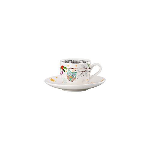 """Hutschenreuther 02471-727206-14715 Weihnachtslieder 2019 \""""Schneeflocke, weißer Rock Espressotasse. 0,08 l / Ø 12 cm Tasse, Espressotasse (1 Tasse & 1 Untertasse), Porzellan"""