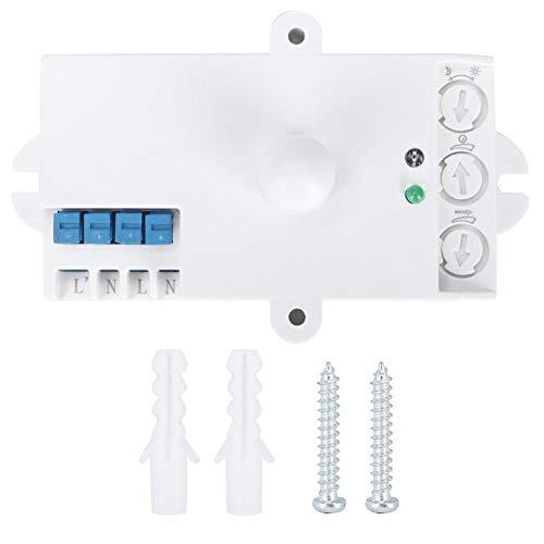 eecoo Interruttore sensore a microonde, sensore Radar a microonde Intelligente, sensore Radar a microonde sensore di Movimento Corpo Interruttore Luce AC 220-240V