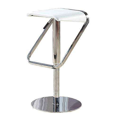 High Stool Creative-Lifting Gestoffeerde zitting met voeten pedaal bar cafe stoel wit leer Gestoffeerde zitting hoge kruk YZJL