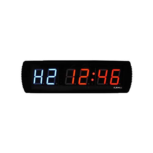 GAN XIN 3-Inch LED Display Gym Timer for MMA Boxing TABATA CrossFit Timer by Remote Control Blue & Red Color