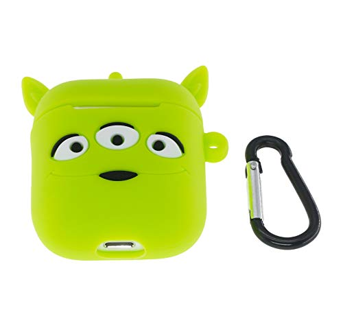 Cute AirPods Case, ifctn Shockproof Protective 3D Silicone Cartoon Monster Airpods Case Cover Compatible with Apple Airpods Charging Case Cover 1&2 (Three-Eyed)