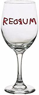 Redrum The Shining Drinking Horror Pint Wine Glass Tumbler Alcohol Drink Cup Barware Halloween Scary (Wine Glass)