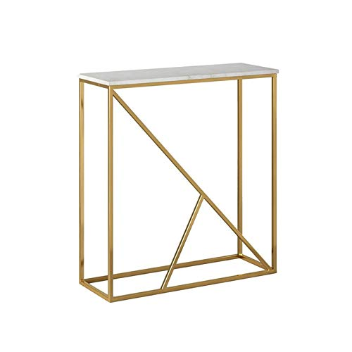 Dressing Table Mirror, Hall Entrance Side Table Marble Simplicity Console Table Bedroom Living Room Table Lamp 80 * 25 * 75CM(Size:80 * 25 * 75CM)