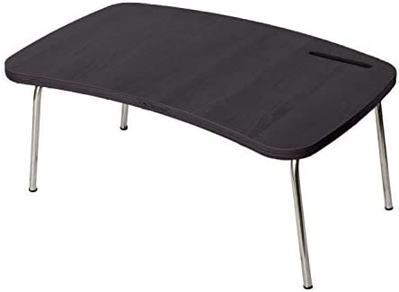 Decostyle Multipurpose Laptop/Portable/Bed/Study Folding Table with Inbuilt Mobile Stand - Wenge