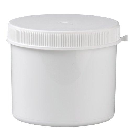 Packland Gmbh 10x Kunststoffdose 600ml mit Press-on Verschluss aus weissem PP