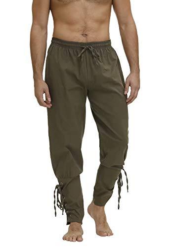 jutrisujo Pantalones Hombre Medievales Pirata Disfraz Holgados para Hombre Retro Sarouel con Cintura elstica para Playa Entrenamiento Deporte