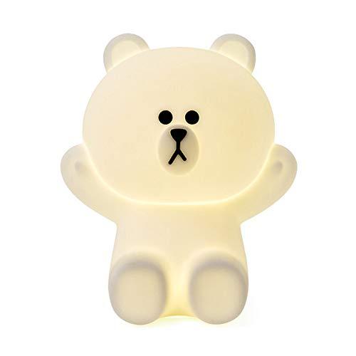 Lampada Wireless RLampada da tavolo in silicone di alta qualità con luminosità regolabile - Lampada da tavolo per camera da letto per bambini da 20 cm - Bear