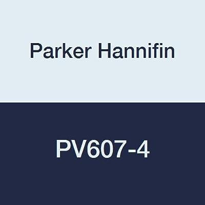 "Parker Hannifin PV607-4 PV Series Brass Plug Valve, 1/4"" Male Thread x 1/4"" Male Thread by Parker Hannifin Corporation"