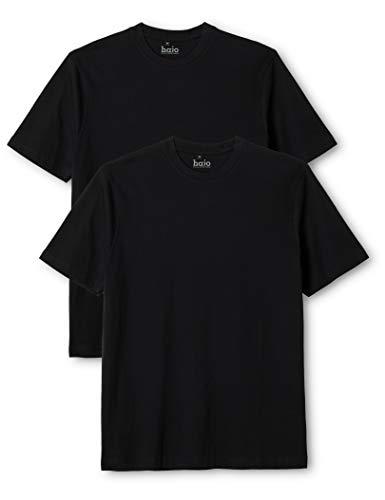 Hajo Herren 22001/4 T-Shirts, Schwarz (schwarz 100), Small (Size:48) (2er Pack)
