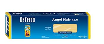 De Cecco Pasta Angel Hair No.9 1 Pound  Pack of 20  - Serving Size 1/8 box  56g  dry