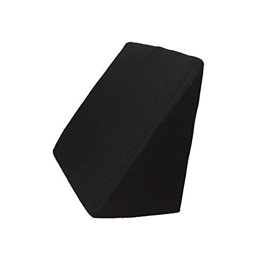 Salosan Keilkissen, Rückenstütze für Bett, Couch, Fernsehen und Tablet Relaxkissen, Lesekissen, Größe 60cm x 50cm Höhe 30cm schwarz