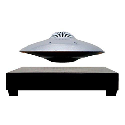 Altavoz inalámbrico UFOSOUND plateado de levitación sobre base electromagnética 200G Slim Induction