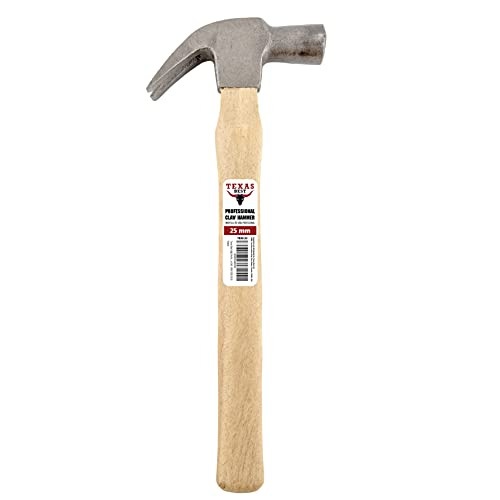 Texas Best High Performance Wood Handle Claw Old Fashioned Style Hammer | Tempered & Forged Steel (Polish Finish) 100% Compliant SAE 1045 / 1050 (18.5)