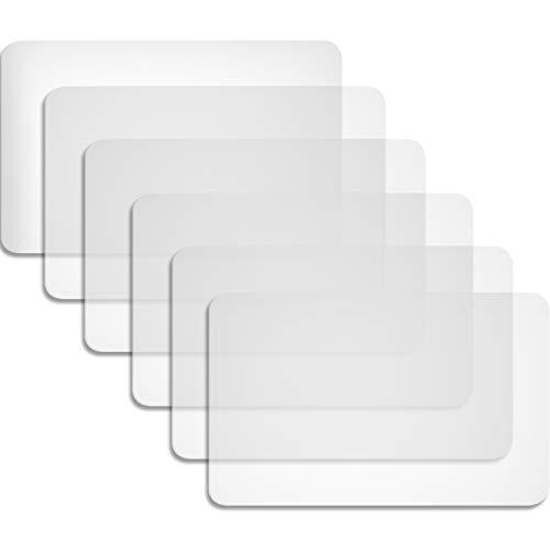 Boao 6 Piezas Manteles Individuales Transparentes Alfombrillas de Plástico Manteles Individuales Resistentes Al Calor Alfombrillas Antideslizantes para Mesa, Comedor, Cocina (40 x 30 cm)