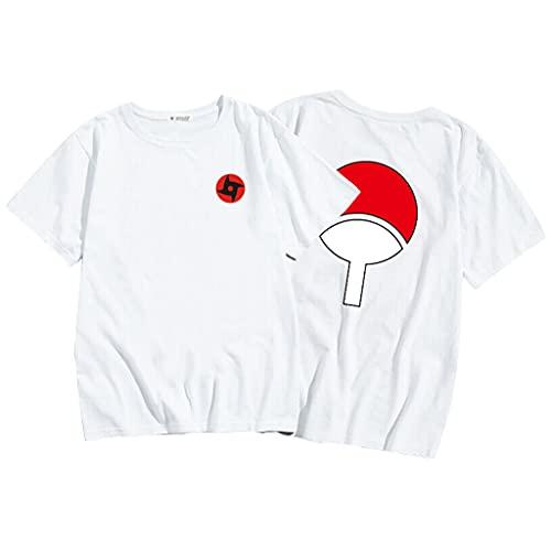 Naruto Maglietta, Unisex 3D Uchiha Sasuke Itachi Shippuden Anime Cosplay T Shirt Moda Casuale Harajuku Naruto Manica Corta Tee Maglia Shirt Camicia Camicetta Tops per Uomo Donna Bambini (W-ZS,L)