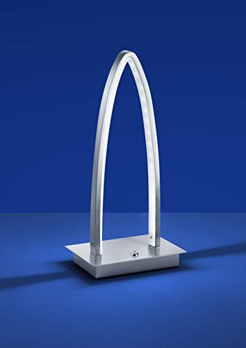 LED, LED Tischleuchte 8W/800lm/3000K, Tastdimmer, edelstahl [Energieklasse A]