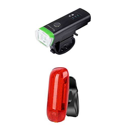 Generic Lampe Frontale LED,Phare Lampe Torche Avant Vélo avec Frein de Lumière LED,Lampe de Sécurité Etanche pour VTT VTC Cycliste