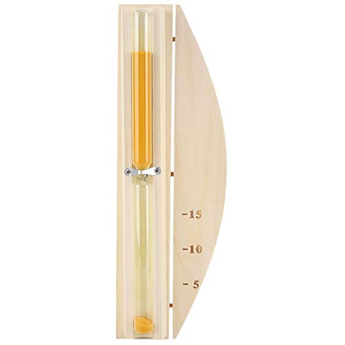 Temporizador, temporizador de arena Reloj de arena para la decoración del hogar de la sala de sauna 15 minutos