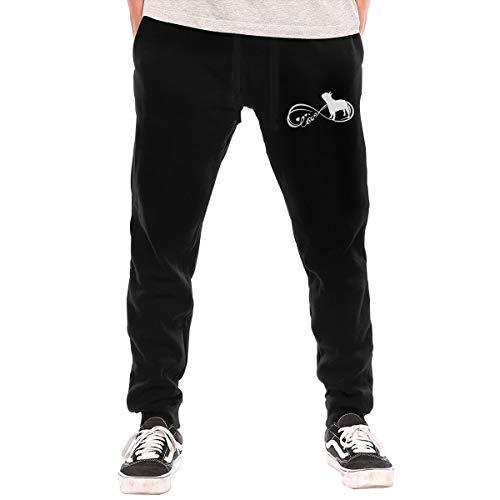 Love French Bulldog Infinity Men's Jogger Lounge Sleep Sweatpants Pajamas Black