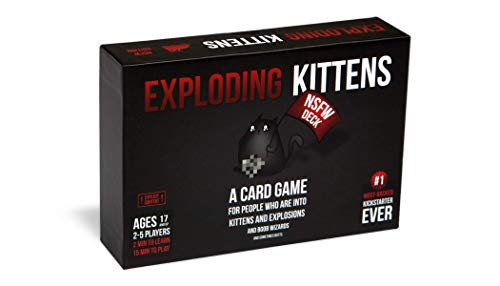 Exploding Kittens EKG-NSFW1-1 NSFW (Explicit) Edition-Family-Friendly Party Card Games for Adults, Teens & Kids, Englische Version