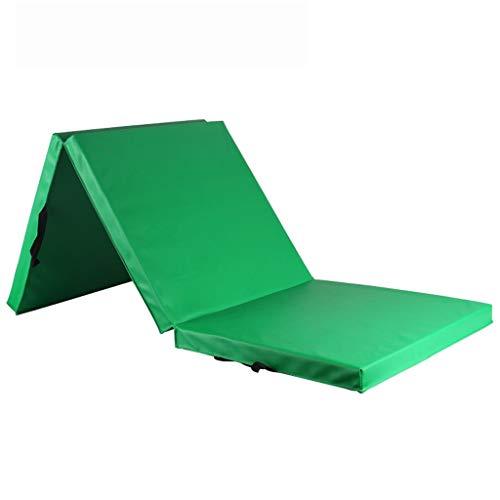 SDXMIUHX Opvouwbare matras, multifunctioneel, PU-huid, drievoudig, vouwbaar, gymnastiekmat, voor kantoor, lunchpauze en fitnessmat, gemakkelijk te reinigen, met draaggreep