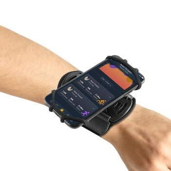 Nicoone Brazalete para teléfono móvil, giratorio de 360 °, para correr, gimnasio, correr, ciclismo, senderismo, apto para todos los teléfonos móviles de 4 a 6 pulgadas