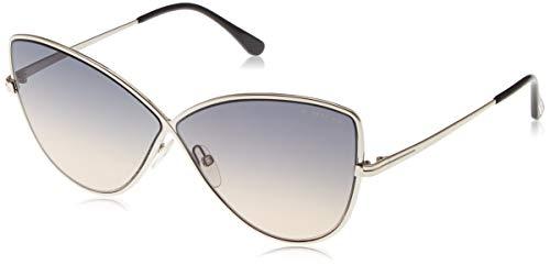 Tom Ford Unisex-Erwachsene FT0569 16B 65 Sonnenbrille, Silber (Palladio Luc/Fumo Grad)